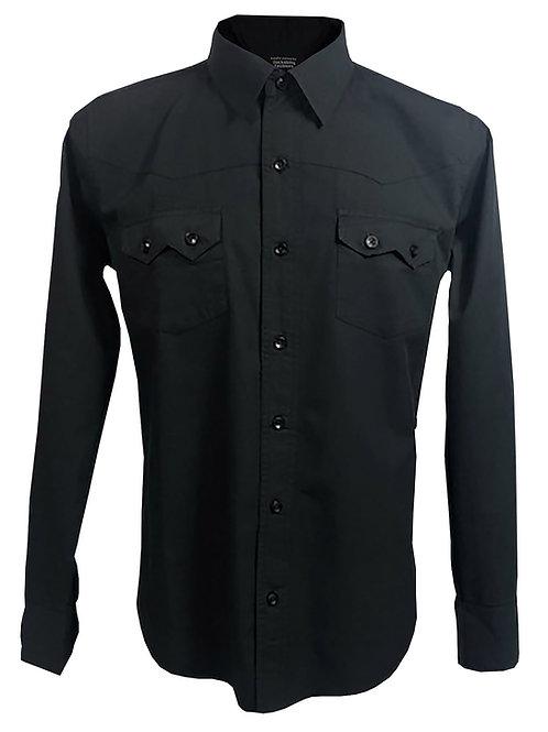 Western Style Retro Vintage Rockabilly Bowling Men's Button-down Shirt Black