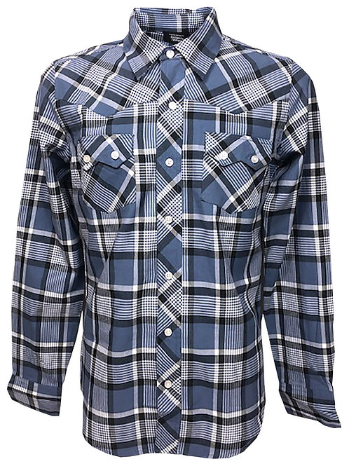 Western Retro Vintage Rockabilly Bowling Men's Button-down Shirt Multi Checkered