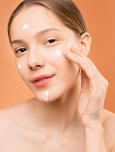 Woman with Skin Care