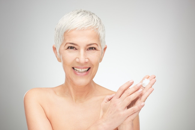 Woman with a chemical peel