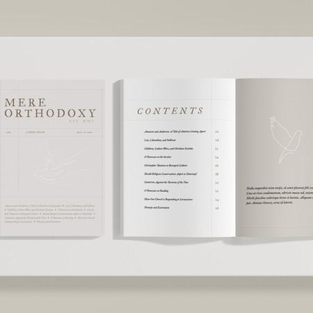 Mere Orthodoxy Magazine Design