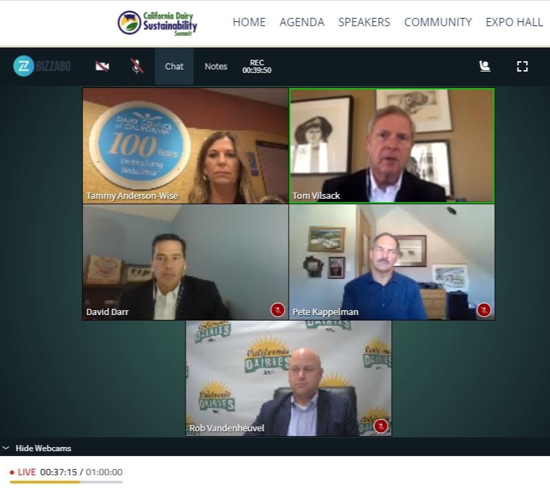 Dairy industry leaders and partners from the local, state, national, and international levels convened online November 5-6.