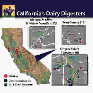 here are now 80 dairy digester projects across California.