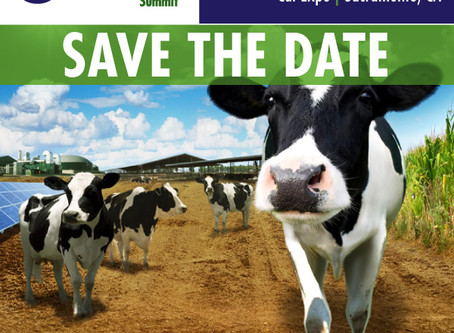 Save the Date: California Dairy Sustainability Summit Announces 2020 Dates