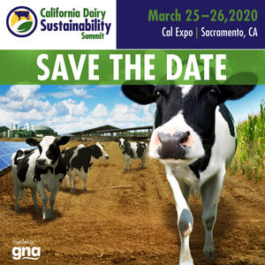 Save the Date: California Dairy Sustainability Summit Announces 2020