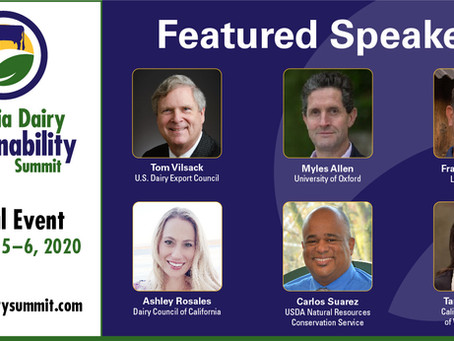 Hear from 50+ Expert Speakers at the Virtual California Dairy Sustainability Summit