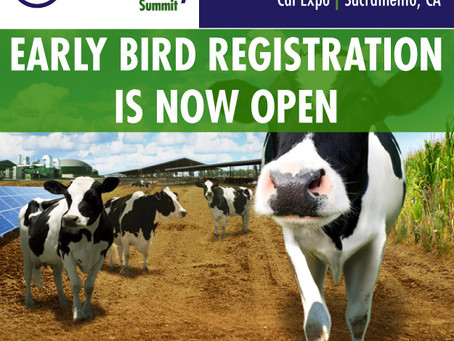 Early Bird Registration Announced for California Dairy Sustainability Summit