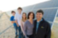 Solar panels on California dairy farms