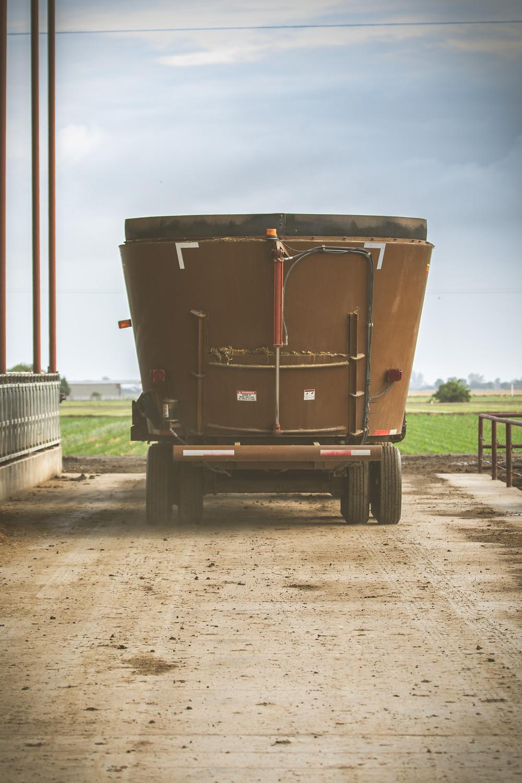 Feed truck on California dairy farm