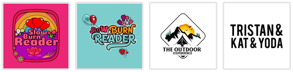 NEw MERCH DESIGNs! for slow burn reader, rhodes, and lingus