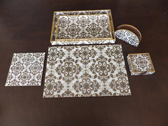 Golden Royal Damasek tableware 20 pc set (wooden)