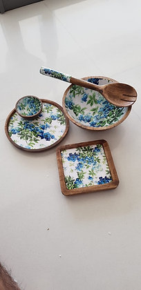 Tropical Snacks Set with bowl and Laddel