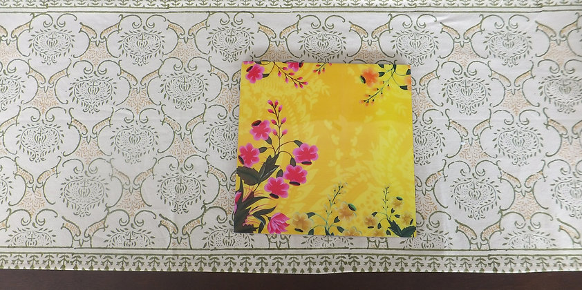 Yellow floral trivets