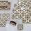 Thumbnail: Golden Royal Damasek Placemats and Trivets set (wooden)