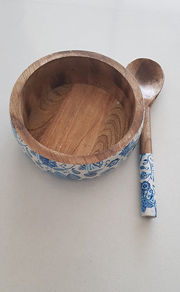 Water Lily Salad Bowls with Ladle (Large)