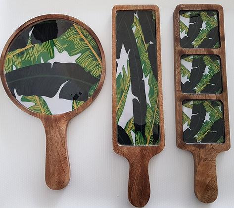 Banana Leaf platter set