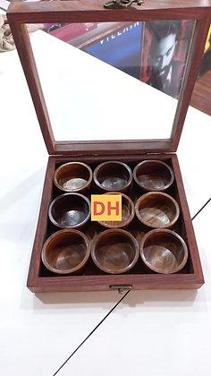 Spice or masala box (round bowl)