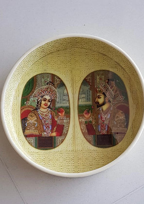 Round Serving Tray-King & Queen