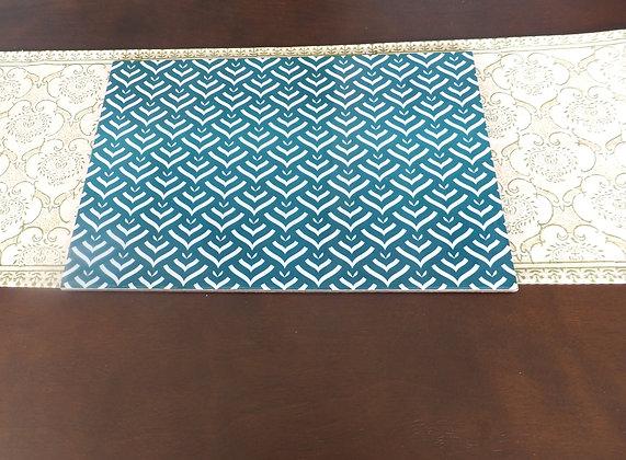 Wooden Zig Zag print Placemats 6 pc set