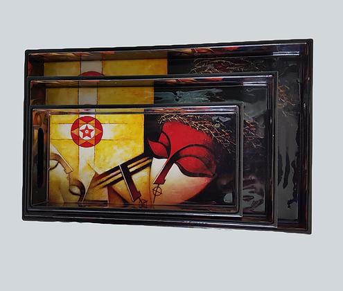Couple Art tray set (3pc)