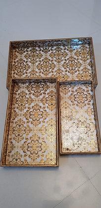 Royal Demasek Tray (Gold Foil)