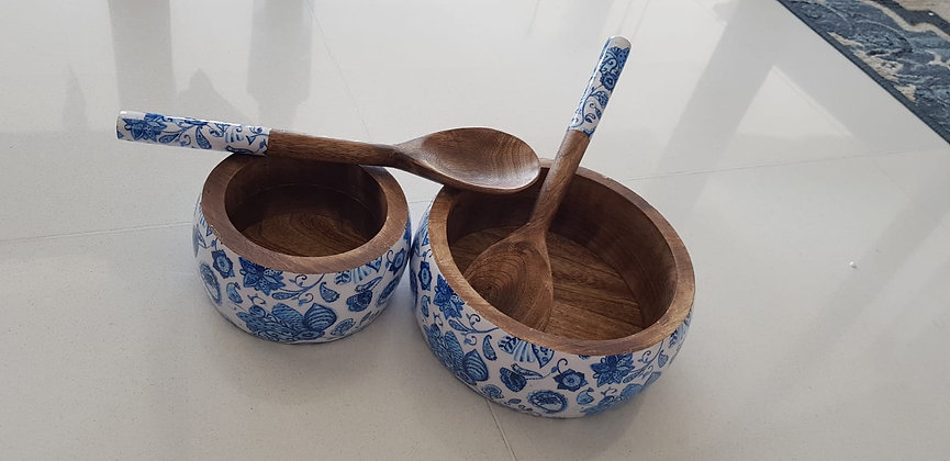Water Lily Salad Bowls with Ladles