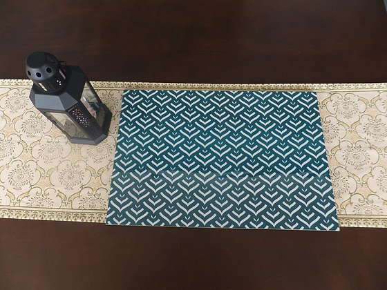 Wooden Zig Zag Placemats and Trivets set (wooden)
