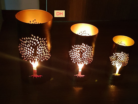 Tree of life candle holder (set of 3)