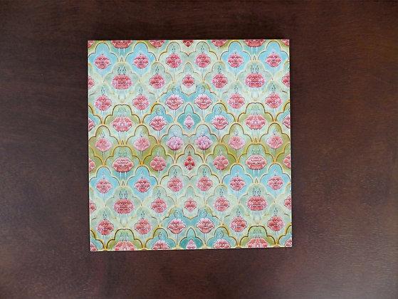 Mughal Flower Trivets 4 pc set