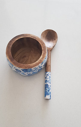 Water Lily Salad Bowls with Ladle (Small)