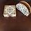 Thumbnail: Wooden Golden Royal Damasek coaster & Napkin set