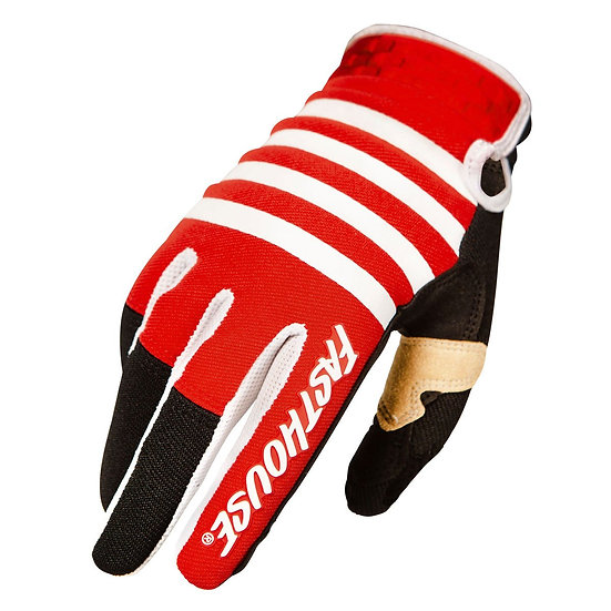 Fasthouse Speed Style Striper Glove - Red/Black