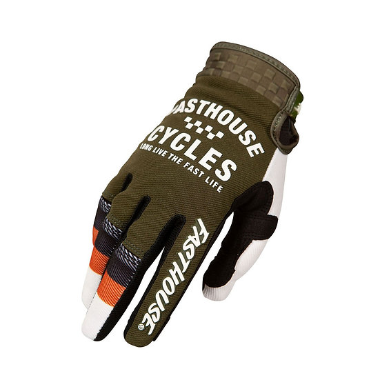 Fasthouse Speed Style Pacer Glove - Olive/White