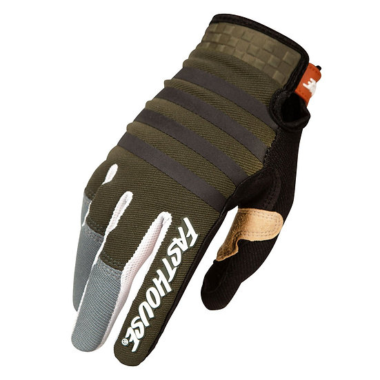 Fasthouse Speed Style Striper Glove - Olive/Charcoal