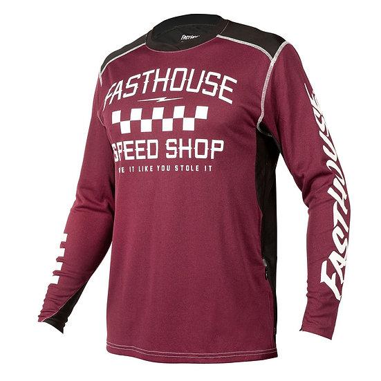 Fasthouse Alloy Roam LS Jersey - Heather Maroon