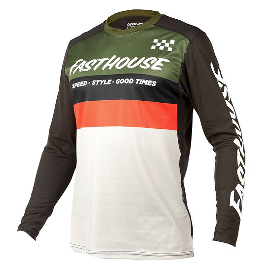 Fasthouse Alloy Kilo LS Jersey - Olive/White