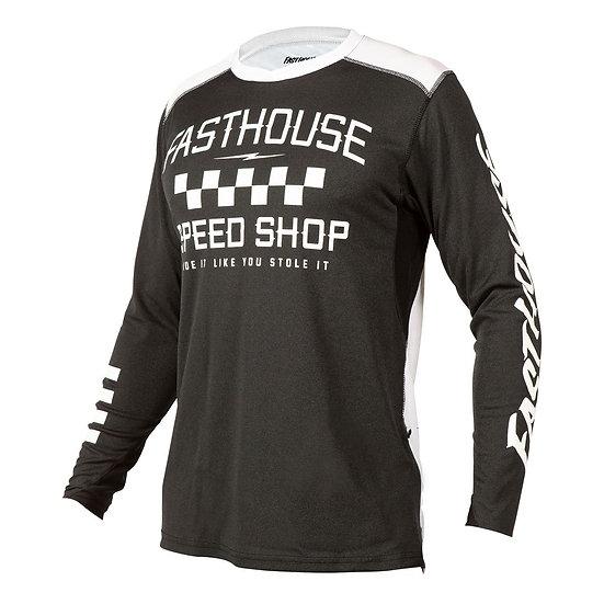 Fasthouse Alloy Roam LS Jersey - Heather Black
