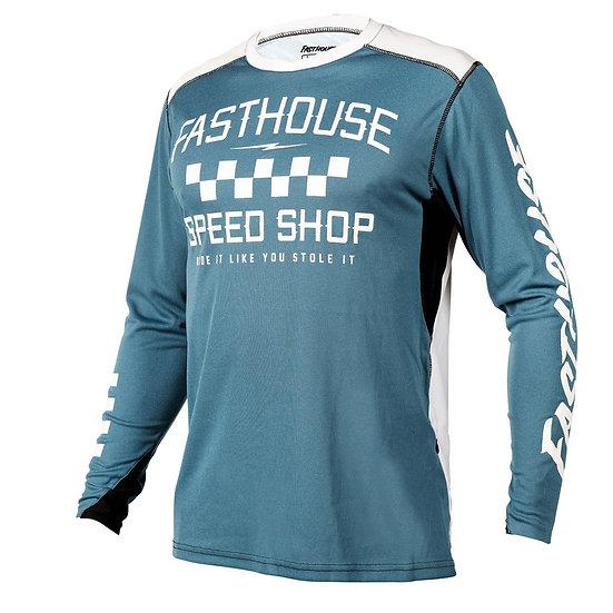 Fasthouse Alloy Roam LS Jersey - Heather Slate