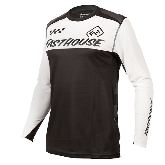Fasthouse Alloy Block LS Jersey - White/Black