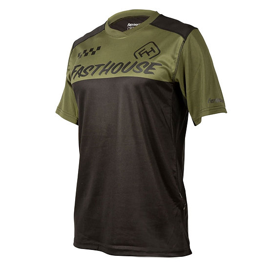 Fasthouse Alloy Block SS Jersey - Olive/Black