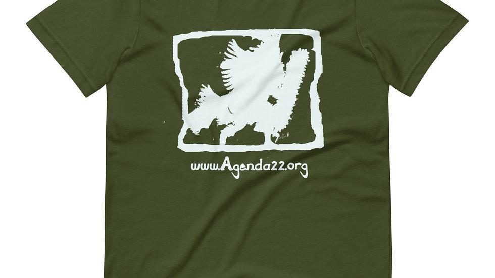 Agenda 22 unisex T (Asbaloth Dawouns) collector's series  --  light logo