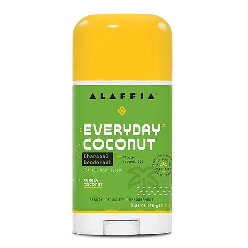 Alaffia Coconut Reishi Coconut Charcoal Deodorant