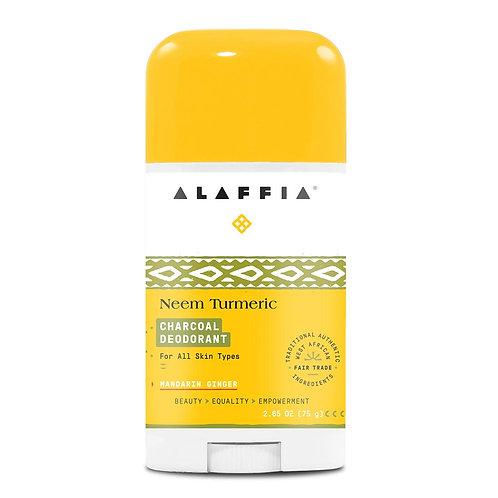 Alaffia Neem Turmeric Mandarin Charcoal Deodorant 2.65 oz.
