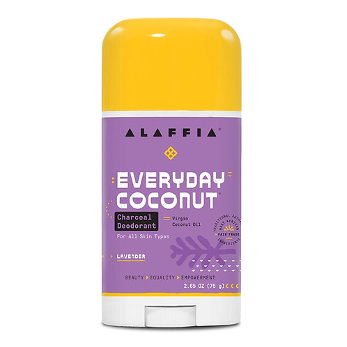 Alaffia Coconut Reishi Lavender Charcoal Deodorant