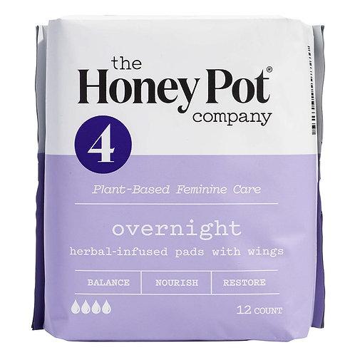 The Honey Pot Company Overnight Herbal Menstrual Pads