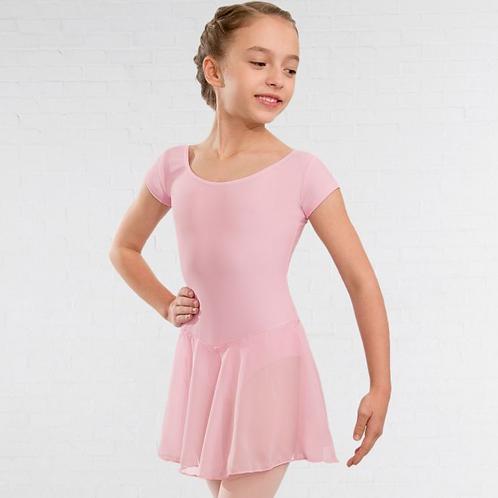 Pink leotard with skirt
