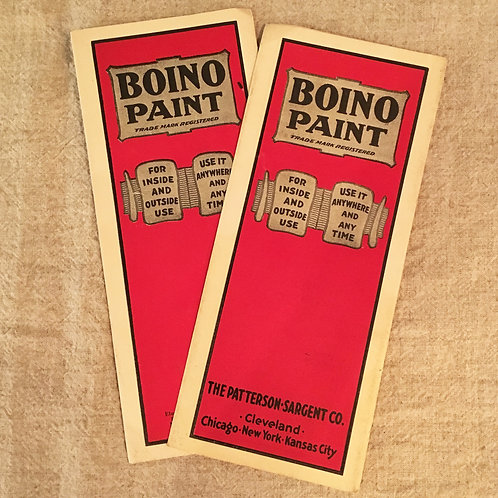 "PAINT BROCHURE ""BOINO PAINT"""