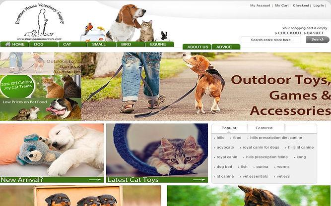 Online petshop storefront