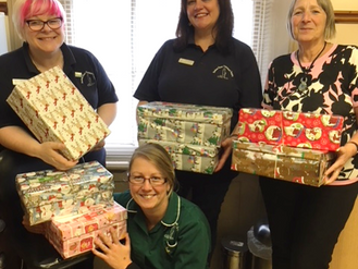 BHVS Staff join in with Operation Christmas Child 2017