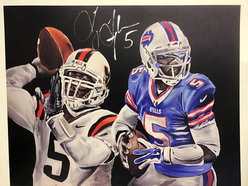 SIGNED Tyrod Taylor Print